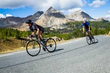 Ruta de carretera en bicicleta